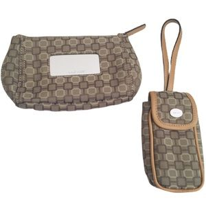 NINE WEST Wallet & Cell Phone Carry Case Tan OS